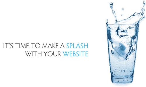 اسپلش در طراحی سایت