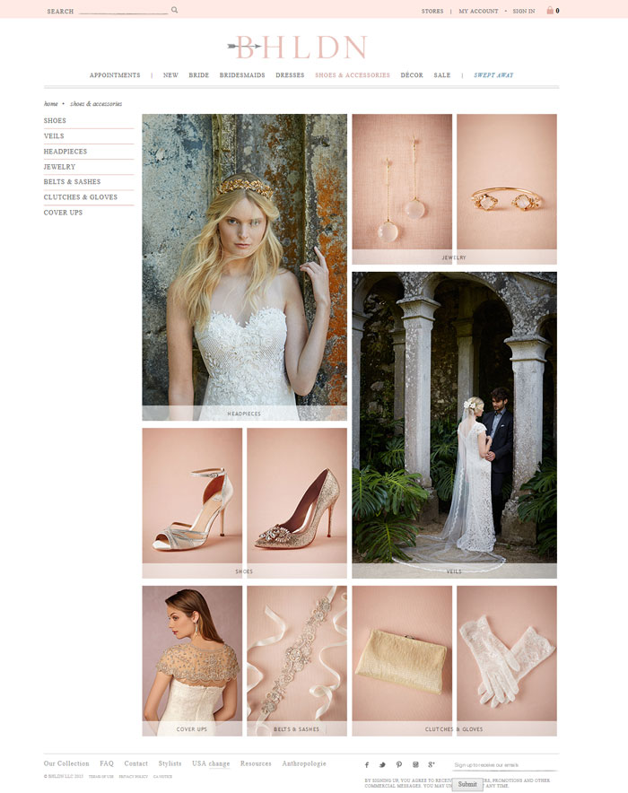 طراحی سایت مزون لباس عروس
