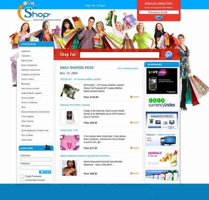shopping website