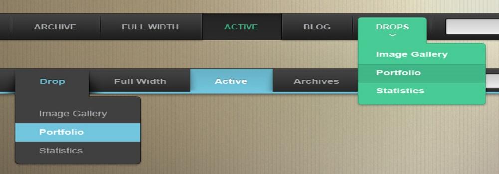 website menu bar