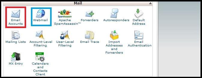 ساخت و مدیریت ایمیل در سی پنل