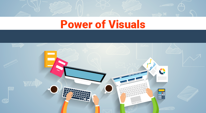 use of visuals in web design