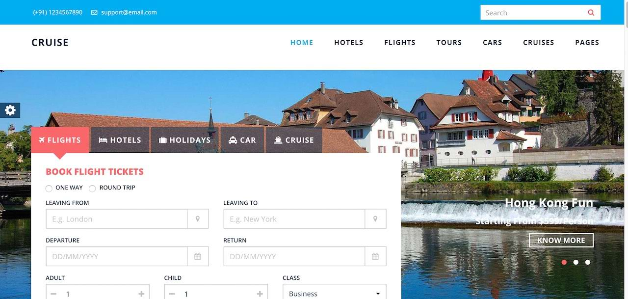 طراحی وب سایت آژانس مسافرت هواپیمایی