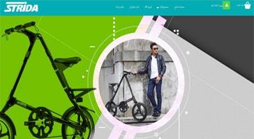 طراحی سایت فروشگاهی نماینده رسمی stride ایران