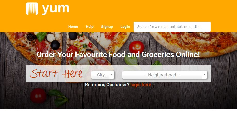 طراحی سایت سفارش غذا