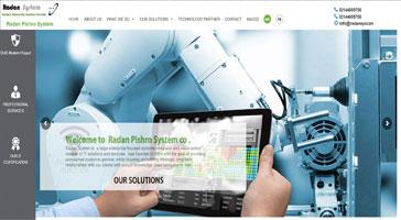 طراحی سایت-طراحی سایت رادان سیستم