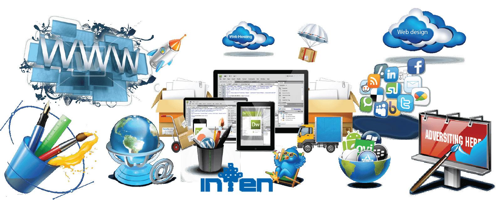 طراحی سایت-ساخت وب سایت آماده توسط شرکت اینتن