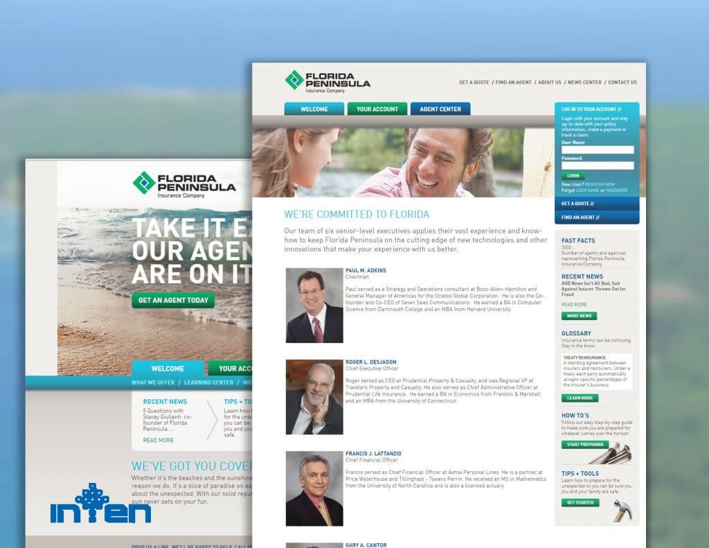 طراحی سایت-قیمت طراحی سایت بیمه توسط طراحان اینتن