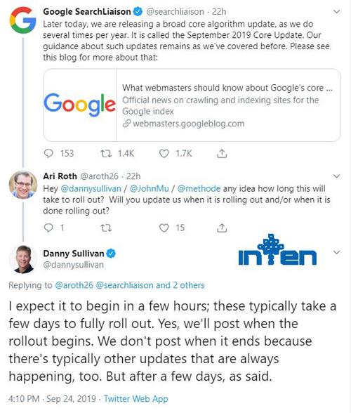 طراحی سایت-آپدیت الگوریتم گوگل سپتامبر 2019